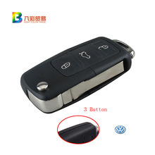 3 Buttons Remote Flip Folding Car Key Shell Replacement for VW Volkswagen MK4 Bora Golf 4 5 6 Passat Polo Bora Touran with logo