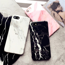 Cover for Iphone 7 Marble Pattern Silicone Phone Cases for Iphone7 Plus 8 8 Plus 6 6s Fundas Protect Cell Phone Sets Shockproof(China)