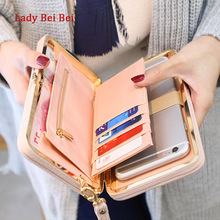 Purse wallet female famous brand card holders cellphone pocket gifts for women money bag clutch(China)