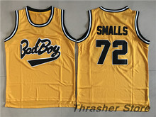 Biggie Smalls #72 Bad Boy Notorious Big Sewn Basketball Jersey Camisa Embroidery Logos