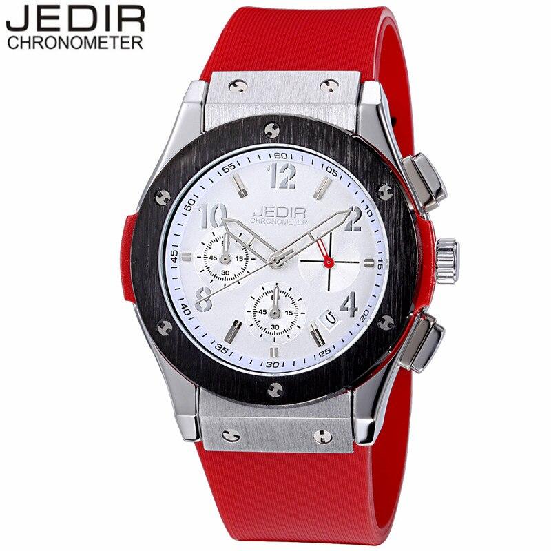 Original JEDIR Brand Luxury Men Military Wristwatch Chronograph Calendar Clock Man Sport Rubber Quartz Watch relogio masculino<br><br>Aliexpress