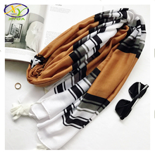 1PC 2017 New Design Ethnic Europe Style Soft Acrylic Cotton Women Fashion Long Scarf Woman New Cotton Viscose Pashminas