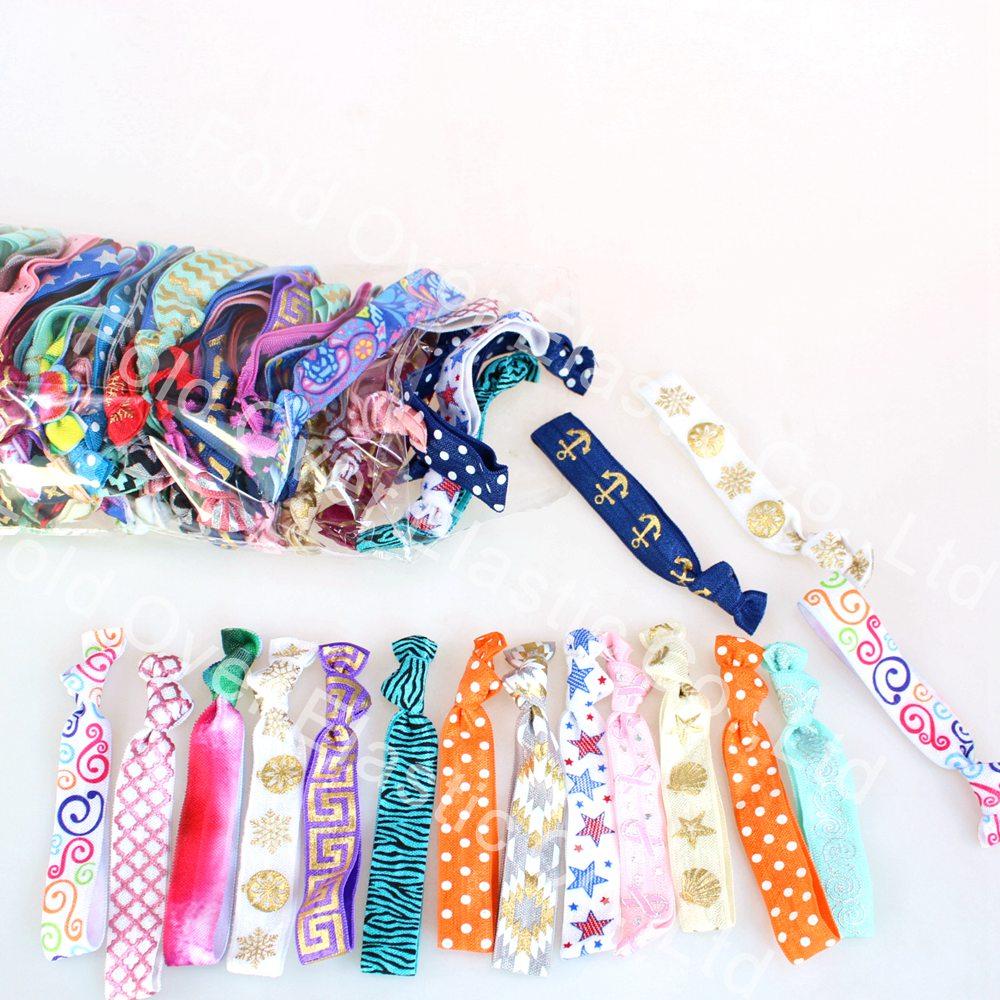 100 Mixed colors Hair Ties  elastic ponytail holders yoga