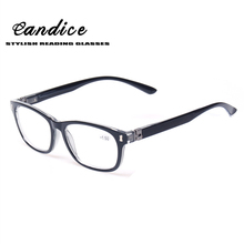 Reading Glasses 180 Degree Spring Hinge Stylish Desiged Women and Men Glasses for Reading +100 +150 200 +250 +300 +350 +400(China)