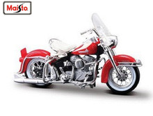 Maisto 1:18 Harley 1962 FLH DUO GLIDE MOTORCYCLE BIKE Model New in Box FREE SHIPPING