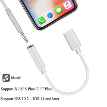 Lightning 3.5mm Headphone Jack Adapter Audio Converter Lightning 3.5mm Cable iPhone IOS 12.1 Splitter Adapter