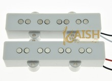KAISH White J Bass Neck Bridge Pickup Bass Pickups Set for 4 String Jazz Bass Guitar