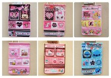 15 colors cartoon cute multifunctional damask wall Storage Bags,Hello Kitty bag organizer,wholesale,20 pcs/lot