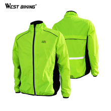 WEST BIKING Men's Riding Breathable Reflective Cycle Clothing Long Sleeve Bicycle Wind Coat Tour de France Cycling Jackets