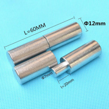 304 Stainless Steel Door Shaft Cylindrical Hinge welding male/female Hinges D12 * 60mm x3(China)