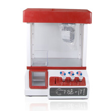 Free shipping 1Piece Retro Carnival Arcade Style Candy Grabber Machine Toy Grabber Machine Children Grab It Game