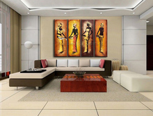 Superb Artist Hand-painted High Quality Wall Decorative African Women Oil Painting On Canvas Modern Africa Canvas Painting