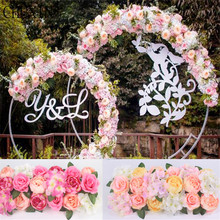 Artificial Silk Flower Wedding Road Lead Hydrangea Peony Rose Flower for Wedding Arch Square Pavilion Corners Decorative Flores(China)