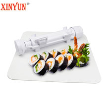 XINYUN Sushi Roller Mould Kit Sushi Rolls Made Easy DIY Sushi Bazooka Sushi Maker Mold Cooking Tools Bento Accessories