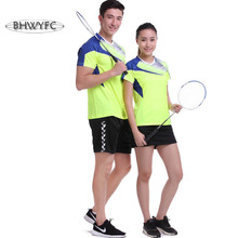 BHWYFC Table Tennis Shirt Badminton Clothing Set Quick Dry Breathable Badminton Shirt(China)