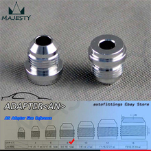 2pcs AN -8 AN8 Male Aluminium Adapter Weld Bung Nitrous Hose Fitting Tank Cell silver(China)