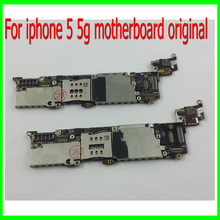 1Pcs Free Shipping & Test one by one For iphone 5 5g Motherboard,16G Original Unlocked for iphone 5 5g Mainboard with Chips