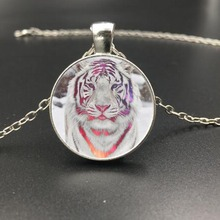 New Style Tiger Pendant Jewelry Glass Dome Pendant Necklace For Man Cute Baby Tiger Vintage Steampunk Jewelry Weekend Deal