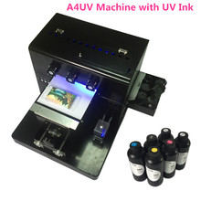 A4 Small size UV Printer UV Flatbed Printer  with a set of UV ink and cleaning liquid free golf ball print stand