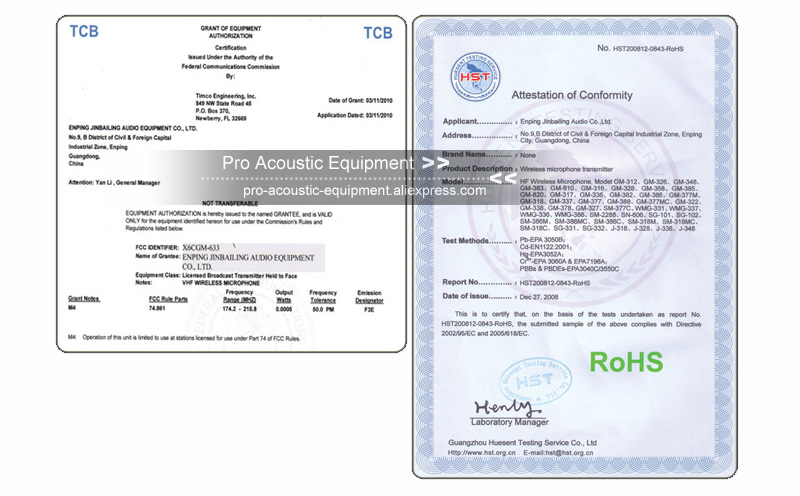 Pro Acoustic Factory Certificate Policy 04