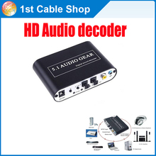 High quality 5.1 AC3 DTS HD Audio Gear Sound Decoder Stereo Digital Audio Converter LPCM To 5.1 Analog Output 2.1 DVD PC