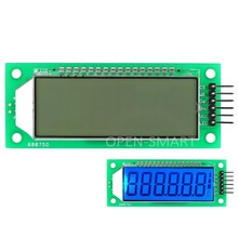 Blue Backlight LCD Module 2.4 inch 6-Digit 7 Segment LCD Display Module HT1621 LCD Driver IC with Decimal Point for Arduino(China)