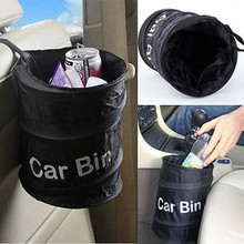 Fashion Wastebasket Trash Can Litter Container Car Auto Garbage Bin/Bag Waste Bins Household Cleaning Tools Accessories(China)