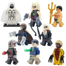 POGO 40pcs/lot of Super Heroes Action Model Captain Marvel Namor Moon Knight Sabretooth Building Blocks Brick Toys Kids Gifts
