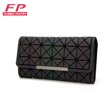 Baobao Wallet Women Long Clutch Small Purses Lattice Standard Wallets bao bao Laser bag Luminous Wallets Card Holder carteira(China)