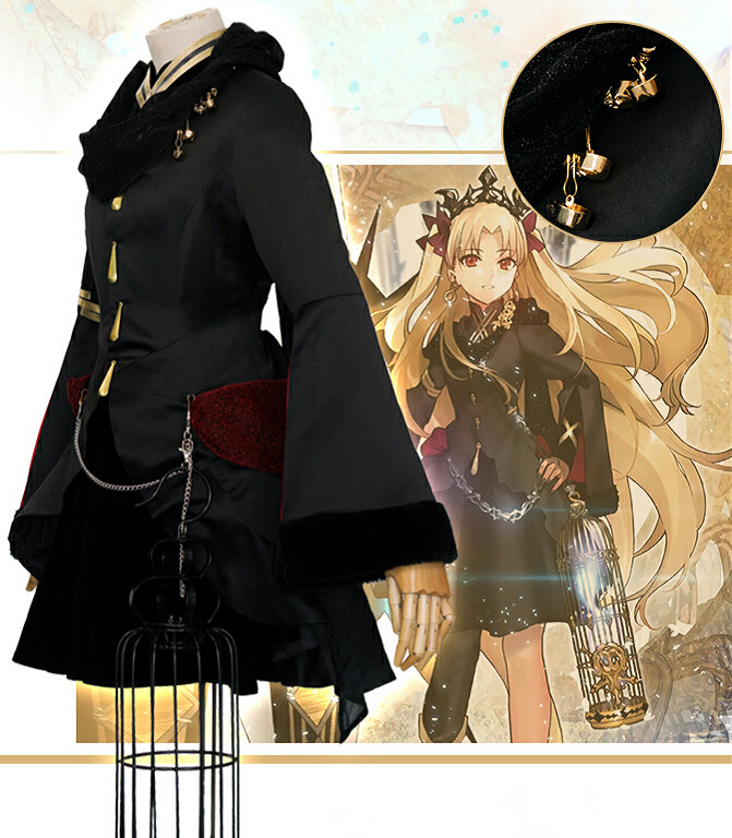 Fate//Grand Order FGO Ereshkigal Cosplay Props Headwear Golden//Black Earring