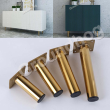 Leg-Hardware Furniture Table-Legs Cabinet Round-Shape Stainless Foot-Sofa 4pcs TV Length