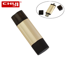 Buy CHYI 2 1 OTG USB Flash Drive 8GB 16GB 32GB 64GB Pendrive Metal Pen Drive Memory Stick U Disk Android Smartphone Computer for $6.97 in AliExpress store