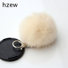 hzew Bijouterie Trinket Ornament Accessory Rabbit Fur Ball Cell Phone Car Keychain Keyrings Pendant Handbag Charm Key Chain(China)
