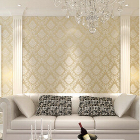 New home decor wall stickers European elegant European classical luxury non-woven wallpaper bedroom sitting room TV setting wall<br>