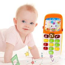 Mini Cute Musical Children Phone Toy Electronic Toy Phone Telephone Cellphone Baby Toys Early Education Cartoon Mobile Phone