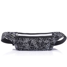 New style canvas men's waist bag female running bag moblie phone security stealth bag(China)