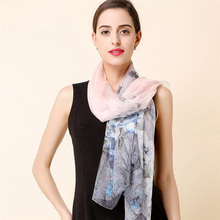 High quality 100% mulberry silk scarf natural real silk Women Long scarves Shawl Female hijab wrap winter new arrival(China)