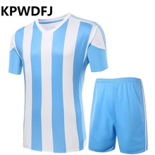 2017 Football Jerseys Men's Short sleeves Soccer Sets Breathable custom survetement football Uniforms training clothes