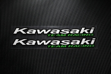 NO.TP034 2pcs/lot Kawasaki Team Racing Reflective Car Sticker Decals Motorcycle Racing Stickers auto stickers Helmet Windfield