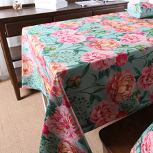 Wholesale Floral like cotton and linen tablecloths decoration tea table cloth  TV washing machine refrigerator cover cloth
