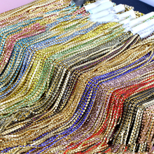2.5mm gold bottom costume applique rhinestones claw trim chain Wedding Decoration,diamond chain clothing accessories,5Y50974