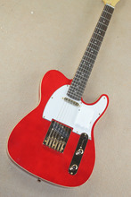 Sale Top Quality 6 string Telecaster red Electric Guitar with Gold hardware -17-11