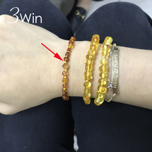 WinWinWin 4mm Genuine Ambar Bracelet for Gifts Natural Ambar Anklet Babe Baltic Teething Jewelry for Baby Small beads Supplier(China)