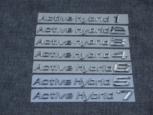 Chrome ABS Plastic Car Trunk Rear Letters Badge Emblem Decal Sticker for BMW Active Hybrid 1 2 3 4 5 6 7 8