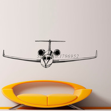 Removable PVC Decorative Wall Decals Kids Room High Quality Airliner Wall Stickers Modern Art Design(China)