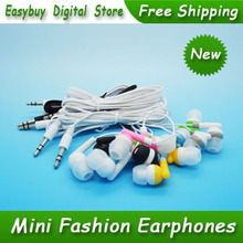 50 pcs/lot New High Quality Super Bass Earphone 3.5mm Stereo Headphones Silicone Piston Headset For MP3 Player & Mobile Phone