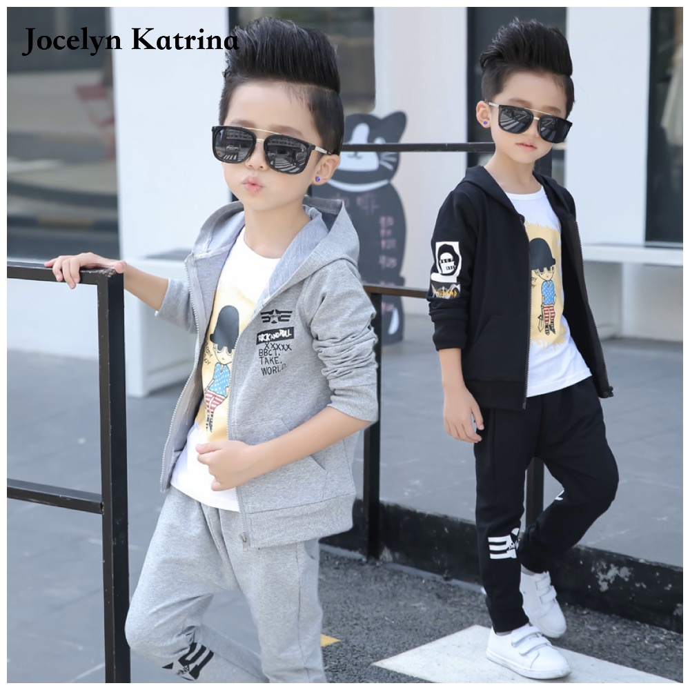 2017 Spring Autumn kids clothes sets jacet pants cotton boys Sport suit set long sleeve sets children hoodies +pants 2 pcs<br><br>Aliexpress