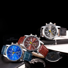2016 New models male watch famous brands fashion Casual Luxury Fashion Crocodile Faux Leather Mens Analog Watch Wrist Watches