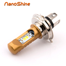 Nanoshine plug and play led motorcycle headlight H4 HS1 hi/low 8w scooter motorbike headlamp motor Accessories COB 12V xenon