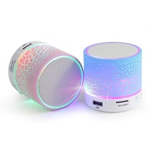 Smart LED Light Crack Mini Wireless Bluetooth Speaker Portable Bluetooth Stereo Loudspeaker Support TF Card/USB Flash Drive(China)